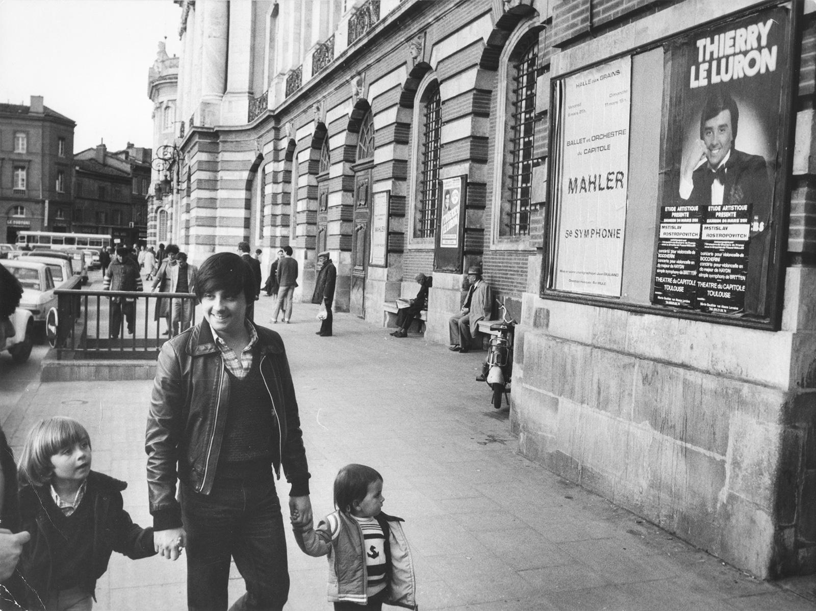 Thierry Le Luron et ses neveux, Erwan et Mikaël